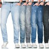 A. Salvarini Designer Herren Jeans Hose Regular Slim Fit Used Jeanshose Stretch