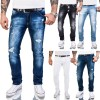Rock Creek Herren Jeans Hose Slim Fit Jeans Destroyed Look Denim W29-W40 M48