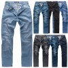 Gelverie Herren Jeans Slim Fit Stonewashed Hose Stretch Denim Basic Jeans M55
