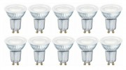 10 x OSRAM LED BASE PAR16 Glas GU10 Strahler 4.3W=50W 120° 2700K Germany